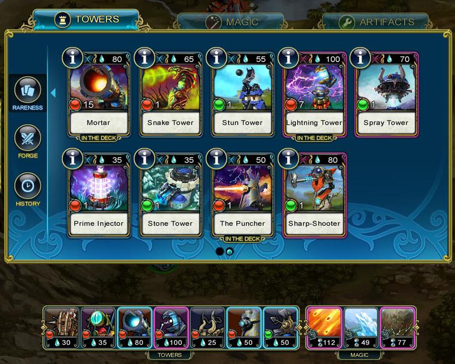 Prime World: Defenders башни