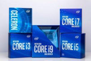 Intel объявляет о выпуске процессора Comet Lake 10-го поколения